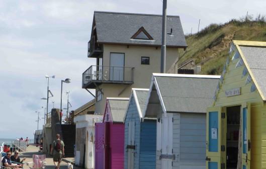 Beach huts at Sheringham